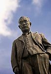 "Photo shows a statue of Haruji ""Sugar King"" Matsue, who ran the South Seas Development Co. which produced sugar in Sugar King Park, Saipan. .Robert Gilhooly Photo"