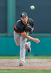 19 March 2015: Miami Marlins pitcher Carter Capps on the mound during a Spring Training game against the Atlanta Braves at Champion Stadium in the ESPN Wide World of Sports Complex in Kissimmee, Florida. The Braves defeated the Marlins 6-3 in Grapefruit League play. Mandatory Credit: Ed Wolfstein Photo *** RAW (NEF) Image File Available ***