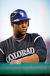 16 August 2008: Colorado Rockies' starting pitcher Livan Hernandez in action against the Washington Nationals at Nationals Park in Washington, DC.  Hernandez recorded his first win since coming to Colorado as the Rockies defeated the Nationals 13-6, handing the last place Nationals their 9th consecutive loss. ..Mandatory Photo Credit: Ed Wolfstein Photo