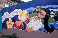 Mural depicting the future of Nicaragua in the town of Altagracia, Isla de Ometepe, Nicaragua
