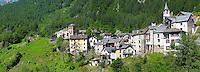 Fusio village, Val Maggiore,  - Vallemaggia, Ticino  Switzerland
