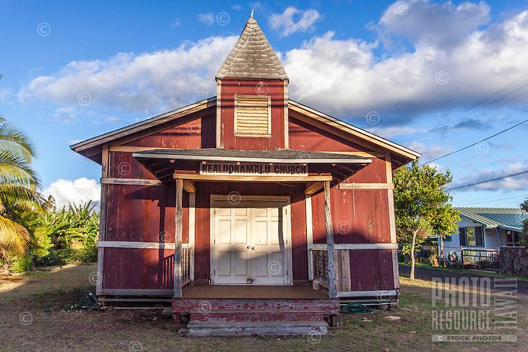 Historic Kealiiokamalu Church, Haleiwa, O'ahu.