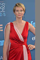 Cynthia Nixon at the 22nd Annual Critics' Choice Awards at Barker Hangar, Santa Monica Airport. <br /> December 11, 2016<br /> Picture: Paul Smith/Featureflash/SilverHub 0208 004 5359/ 07711 972644 Editors@silverhubmedia.com