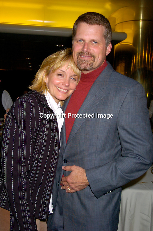 Robert Newman and wife Britt ..at the 12th Annual Gala for The League for the Hard of Hearing called Feast With Famous Faces on October 18, 2004 at JP Morgan Chase. ..Photo by Robin Platzer, Twin Images