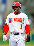 9 March 2010: Washington Nationals' outfielder Nyjer Morgan in action during a Spring Training game against the Detroit Tigers at Space Coast Stadium in Viera, Florida. The Tigers defeated the Nationals 9-4 in Grapefruit League action. Mandatory Credit: Ed Wolfstein Photo