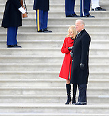Washington, DC - January 20, 2009 -- United States Vice President Joe Biden and his wife Jill watch former Vice President Dick Cheney leave the East Front of the US Capitol Building after Barack Obama was sworn in as the 44th President of the United States in Washington, DC, USA 20 January 2009.  Obama defeated Republican candidate John McCain on Election Day 04 November 2008 to become the next U.S. President..Credit: Tannen Maury - Pool via CNP