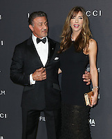 LOS ANGELES, CA - OCTOBER 29: Sylvester Stallone, Jennifer Flavin attends the 2016 LACMA Art + Film Gala honoring Robert Irwin and Kathryn Bigelow presented by Gucci at LACMA on October 29, 2016 in Los Angeles, California. (Credit: Parisa Afsahi/MediaPunch).