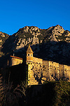 Sunset in Villefranche-de-Conflent, a Vauban-designed fortified town at the confluence of the rivers Tet & Cady in the Pyrenees Orientales, France.