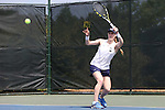 20 April 2016: Notre Dame's Brooke Broda. The University of Notre Dame Fighting Irish played the University of Pittsburgh Panthers at the Cary Tennis Center in Cary, North Carolina in the first round of the Atlantic Coast Conference Women's Tennis Tournament. Notre Dame won the match 4-3.