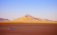Hills on Sinai peninsular near Sharm el-Sheikh and a truck on the road