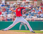 11 March 2013: Washington Nationals pitcher Tyler Clippard on the mound during a Spring Training game against the Atlanta Braves at Space Coast Stadium in Viera, Florida. The Braves defeated the Nationals 7-2 in Grapefruit League play. Mandatory Credit: Ed Wolfstein Photo *** RAW (NEF) Image File Available ***