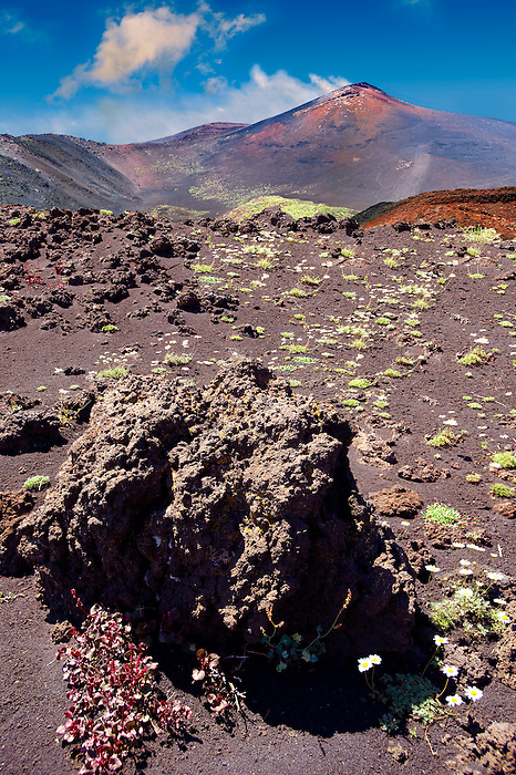 Volcanic slopes of Mount Etna Sicily