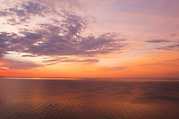 Sunrise over Lake Superior as viewed from Minnesota's north shore.