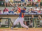 22 March 2015: Houston Astros infielder Luis Valbuena in Spring Training action against the Pittsburgh Pirates at Osceola County Stadium in Kissimmee, Florida. The Astros defeated the Pirates 14-2 in Grapefruit League play. Mandatory Credit: Ed Wolfstein Photo *** RAW (NEF) Image File Available ***
