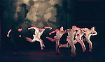 1999 - CARMINA BURANA - Jamey Hampton (in black)dances with members of the BODYVOX dance troup in Opera Pacifics Carmina Burana performance.