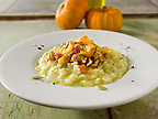 Roast Pumkin &amp; Bacon on safron Risotto