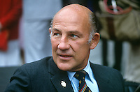 Former Formula 1 racing driver Stirling Moss, UK, during a visit to N Ireland. 19850713SM5..Copyright Image from Victor Patterson, 54 Dorchester Park, Belfast, UK, BT9 6RJ..Tel: +44 28 9066 1296.Mob: +44 7802 353836.Voicemail +44 20 8816 7153.Skype: victorpattersonbelfast.Email: victorpatterson@me.com.Email: victorpatterson@ireland.com (back-up)..IMPORTANT: If you wish to use this image or any other of my images please go to www.victorpatterson.com and click on the Terms & Conditions. Then contact me by email or phone with the reference number(s) of the image(s) concerned.