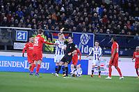 VOETBAL: HEERENVEEN: 06-02-16, Abe Lenstra Stadion, SC Heerenveen - FC Twente, uitslag 1-3, gele kaart Joachim Andersen, ©foto Martin de Jong