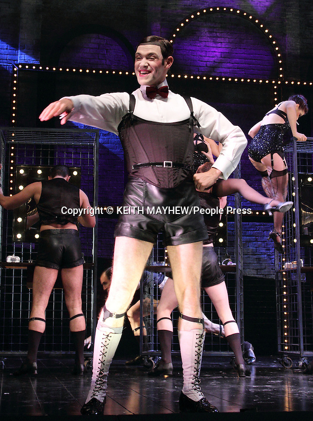 London - Will Young (as Emcee) and Michelle Ryan (as Sally Bowles) make their West End musical theatre debuts - at the Savoy Theatre - in the classic musical 'Cabaret' by Kander & Ebb, Sian Phillips (as Fraulien Schneider) and Matt Rawle (as Clifford) are also in the production - Savoy Theatre, The Strand, London - October 8th 2012..Photo by Keith Mayhew