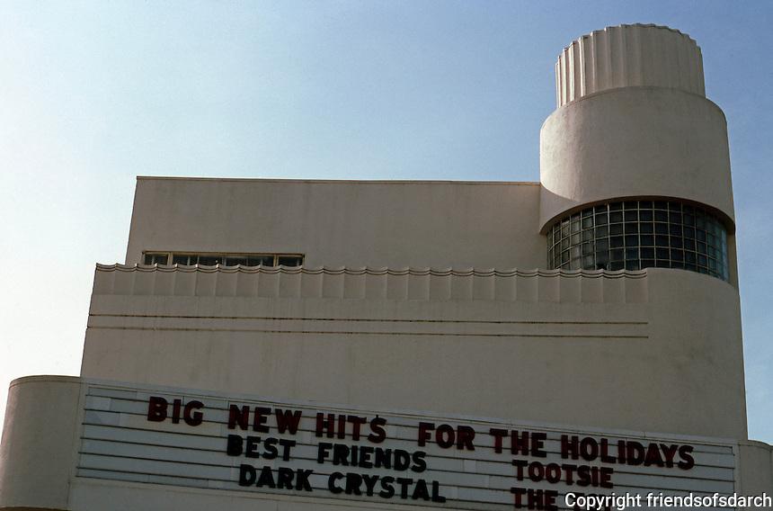 Movie Theatre: Ukiah, CA. Ukiah Theater, c. 1935. Facade.  Photo '83.