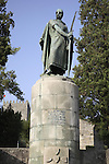 Statue to Afonso Henriques in the grounds of the San Miguel Castle, Guimaraes, Minho, Portugal