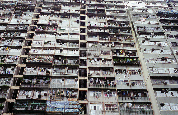 An apartment block in Kowloon.