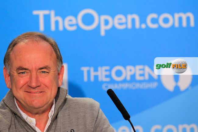 R&amp;A Chief executive Peter Dawson speaking ahead of The 143th Open championship Royal Liverpool Golf club, Hoylake, England.<br /> Picture: Fran Caffrey www.golffile.ie