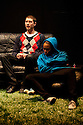 """18/05/2011.  """"Mad Blud"""" opens at Theatre Royal Stratford East. A new work exploring the reality behind the headlines of knife crime. Cary Crankson and Joanne Sandi. Photo credit should read Jane Hobson"""