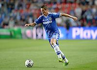FUSSBALL  SUPERCUP  FINALE  2013  in Prag    FC Bayern Muenchen - FC Chelsea London          30.08.2013 Fernando Torres (FC Chelsea) Einzelaktion am Ball