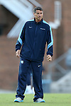 13 September 2013: UNC head coach Carlos Somoano. The University of North Carolina Tar Heels hosted the University of Maryland Terrapins at Fetzer Field in Chapel Hill, NC in a 2013 NCAA Division I Men's Soccer match. The game ended in a 2-2 tie after two overtimes.