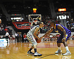 "Ole Miss' Marshall Henderson (22) vs. Lipscomb at the CM. ""Tad"" Smith Coliseum in Oxford, Miss. on Friday, November 23, 2012."
