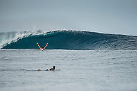 Namotu Island Resort, Nadi, Fiji (Saturday, February 18 2017): There were light winds this morning with a bumpy South West swell. Cloudbreak was in the 4' range and very clean. Swimming Pools was also working from first light till the tide filled in mid morning. Photo: joliphotos.com