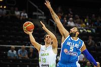 20140817: LTU, Basketball - Friendly match, Slovenia vs Greece