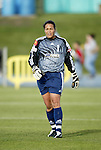 18 June 2004: Saskia Webber before the game. The Atlanta Beat tied the New York Power 2-2 at the National Sports Center in Blaine, MN in Womens United Soccer Association soccer game featuring guest players from other teams.