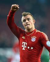 FUSSBALL  DFB-POKAL  ACHTELFINALE  SAISON 2012/2013    FC Augsburg - FC Bayern Muenchen        18.12.2012 Jubel Xherdan Shaqiri (FC Bayern Muenchen)