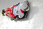 15 December 2006: Maya Pedersen from Switzerland, banks through a turn at the FIBT Women's World Cup Skeleton Competition at the Olympic Sports Complex on Mount Van Hoevenburg  in Lake Placid, New York, USA. &amp;#xA;&amp;#xA;Mandatory Photo credit: Ed Wolfstein Photo<br />