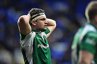 Elliott Stooke of London Irish looks on during a break in play. Aviva Premiership match, between London Irish and Exeter Chiefs on February 21, 2016 at the Madejski Stadium in Reading, England. Photo by: Patrick Khachfe / JMP