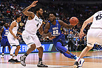 MILWAUKEE, WI - MARCH 18: Middle Tennessee Blue Raiders forward JaCorey Williams (22) drive the lane against Butler Bulldogs forward Tyler Wideman (4) during the first half of the 2017 NCAA Men's Basketball Tournament held at BMO Harris Bradley Center on March 18, 2017 in Milwaukee, Wisconsin. (Photo by Jamie Schwaberow/NCAA Photos via Getty Images)