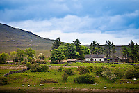Traditional farmhouse near famous Maam Cross on Recess to Cllifden Road, Connemara, County Galway, Ireland