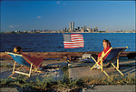 World Trade Center from Staten Island, July 4, 1986...1986 © Dilip MEHTA / CONTACT Press Images