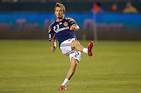 David Beckham of the LA Galaxy warms prior to the match. The LA Galaxy defeated the Columbus Crew 3-1 at Home Depot Center stadium in Carson, California on Saturday Sept 11, 2010.