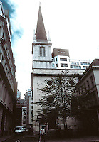 Sir Christopher Wren: St. Margaret Pattens, London, 1684-7, 1698-1702. Medieval style. Photo '90.