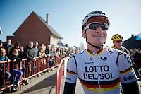 German Champion André Greipel (DEU) all smiles before the start<br /> <br /> Kuurne-Brussel-Kuurne 2014
