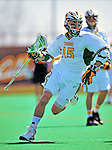 19 April 2009: University of Vermont Catamount Midfielder Luke LaBranche, a Senior from Cold Spring Harbor, NY, in action against the University at Albany Great Dames on Moulton Winder Field in Burlington, Vermont. The Cats fell to the Danes 9-6 in Vermont's last home game of the 2009 season. Mandatory Photo Credit: Ed Wolfstein Photo
