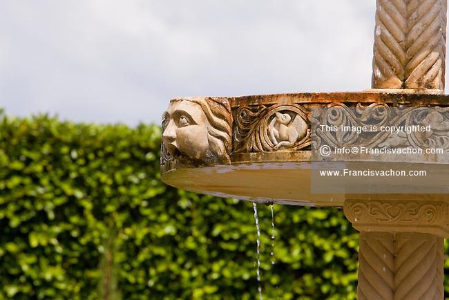 A Fountain In The Italian Garden Of The Cummer Museum