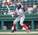 Outfielder Jiwan James (23) of the Lakewood BlueClaws, Class A affiliate of the Philadelphia Phillies, in a game against the Greenville Drive on May 13, 2010, at Fluor Field at the West End in Greenville, S.C.
