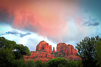 Pink Clouds at Red Rock Crossing - Sedona, Arizona