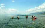 On the shores of the Ohrid lake