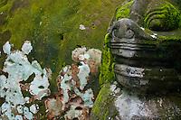 Stone carving in the Phnom Kulen area, Cambodia