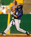 12 July 2007: Mahoning Valley Scrappers outfielder Matt Brown in action against the Vermont Lake Monsters at Historic Centennial Field in Burlington, Vermont. The Scrappers defeated the Lake Monsters 11-2 in the first game of their NY Penn-League double-header...Mandatory Photo Credit: Ed Wolfstein Photo